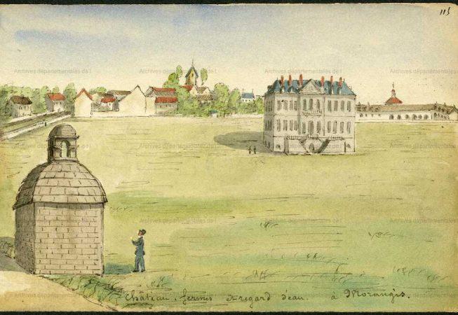 Aquarelle d'Albert Capaul dit Collenberg (1827-1904)